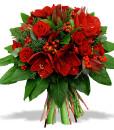 bouquet-haut-rond-rose-fleur-leucadendron-hypericum-amaryllis-100-rouge_22197