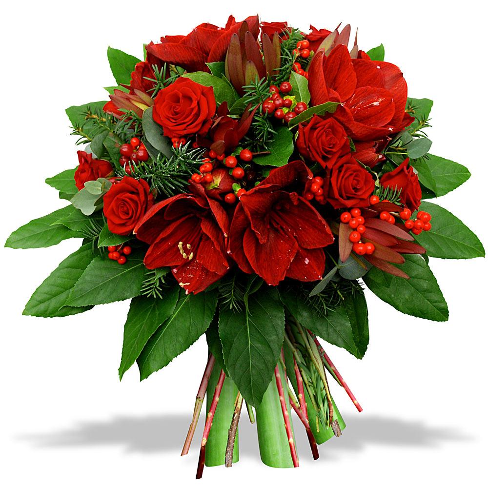 Amaryllus ja punane roos forendum lilled for Fleurs amaryllis bouquet